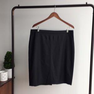 EUC J. Crew Super 120s Black Wool Pencil Skirt